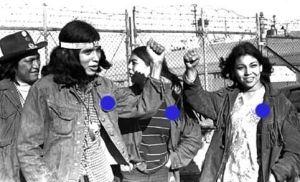 American Indian Movement blue dot