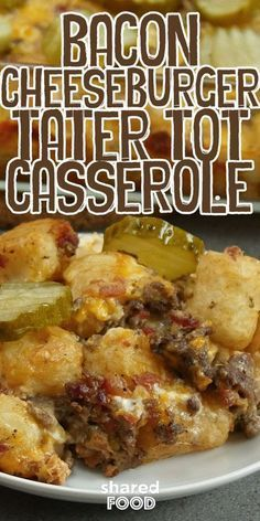 I'm always down for a bacon cheeseburger. When we thought up a way to turn the dish into a delicious Bacon Cheeseburger Tater Tot Casserole, I was hooked! This yummy casserole makes for a great dinner that the whole family will enjoy, and the sky's the limit when it comes to toppings you can add after! We added pickles after baking, but you can add tomatoes, lettuce, or anything else your heart desires. This recipe is made with foods you most likely already have at home, so what are you…