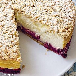 cheesecake recipe - cherry crumble