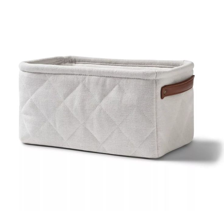 Quilted Linen Like Tote – Cloud Island White