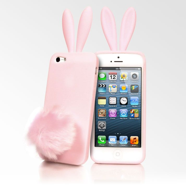 Pink Rabito Bunny Ears iPhone 5 Cases