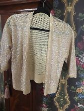 Vintage Laura Aponte -   Pink Irodesent Sequence Wool  Sweater Italy S-M