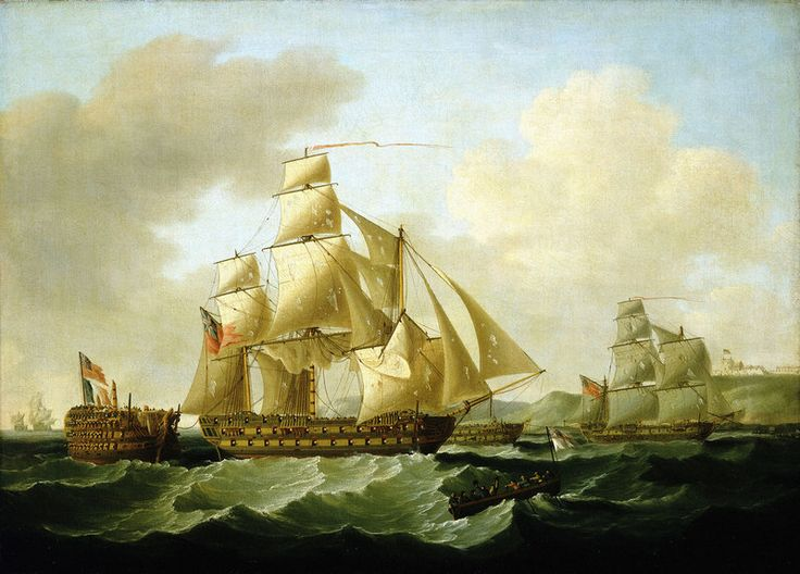 Strachan's action off Rochefort, 25 September 1806: bringing Home the Prizes Posters & Prints by Francis Sartorius