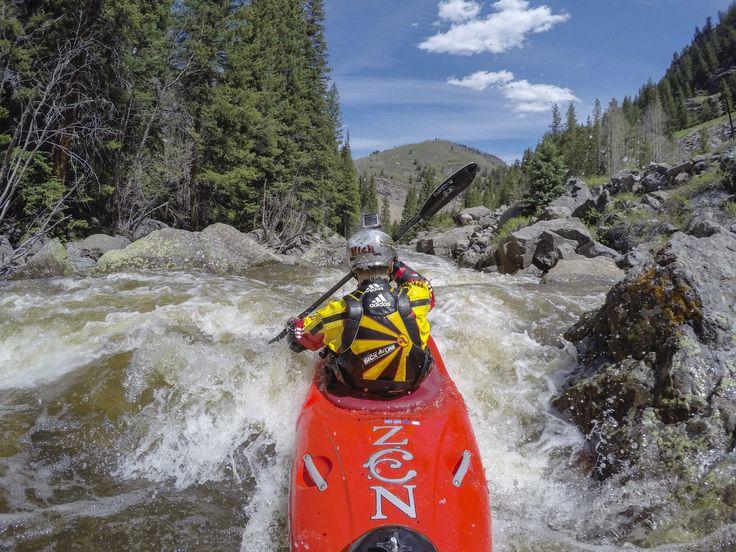 GoPro athlete Nick Troutman cruising Steep Creek at GoPro Mountain Games.