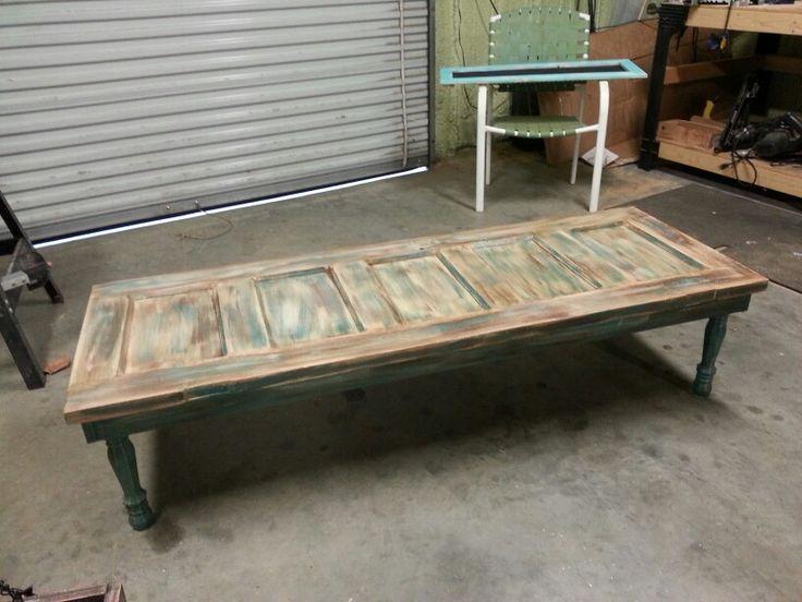 Old wood door coffee table.