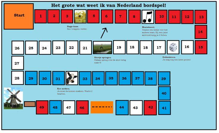 In dit bordspel leren de kinderen van alles over Nederland in de vorm van doe-opdrachten en quizvragen. Deze vragen lopen uiteen van typisch Hollandse liedjes tot taken van de koningin. Dit schitte...