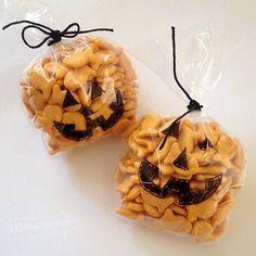 Cute pumpkin Halloween treats