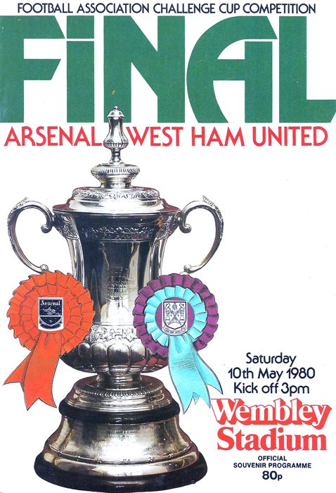 Match programme for the FA Cup final on May 10, 1980 at Wembley, Arsenal v West Ham United