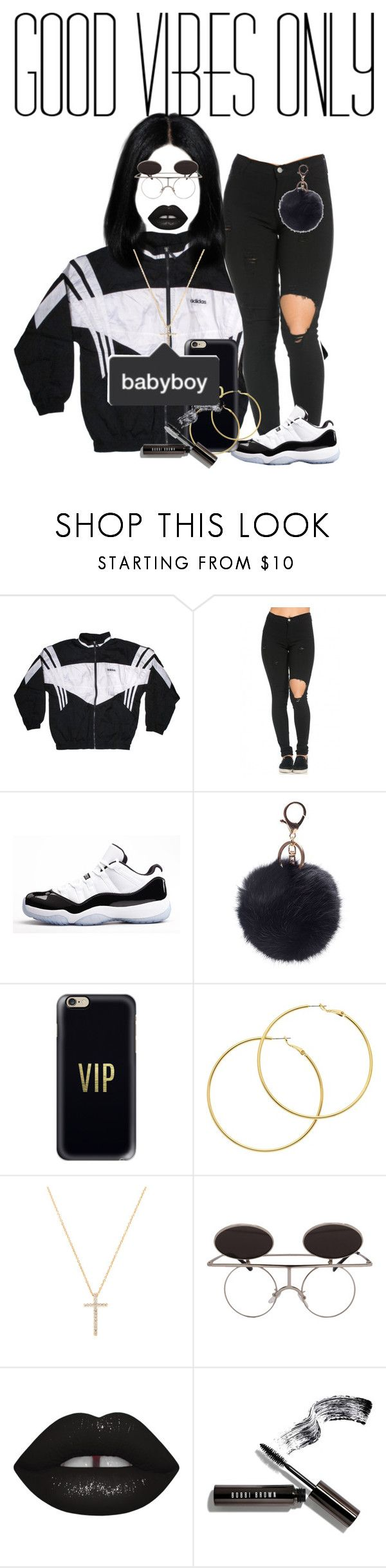 """Black describe my attitude 💀♠️"" by blackprincessss ❤ liked on Polyvore featuring adidas, Concord, Casetify, Melissa Odabash, Nephora and Bobbi Brown Cosmetics"