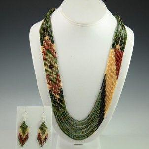 Navajo Beaded Necklace by Rena Charles, Navajo Jewelry, Flagstaff Indian Jewelry, Sedona Native American
