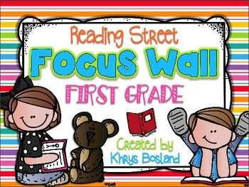 READING STREET FOCUS WALL - FIRST GRADE-EDITABLE {ENTIRE YEAR - OVER 330 PAGES} - TeachersPayTeachers.com