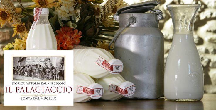 """Latte del """"Palagiaccio"""", il sapore che non ti ricordavi!!!! Latte, yogurt, ricotta e formaggi freschi, prodotti dalla storica Fattoria del Palagiaccio (XIII sec.) sulle alture del Mugello, sono prodotti in fattoria solo con il latte dei bovini allevati con passione in un ambiente incontaminato. Al banco latticini nei nostri negozi alimentari della provincia di Siena ed Arezzo: se vuoi conoscere quello più vicino a te, consulta il nostro sito www.capsi.it"""