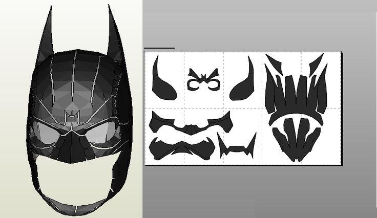 Papercraft .pdo file template for Batman Arkham Origins mask.
