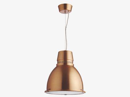 INDUSTRY METALLICS Metal Copper metal ceiling light - HabitatUK