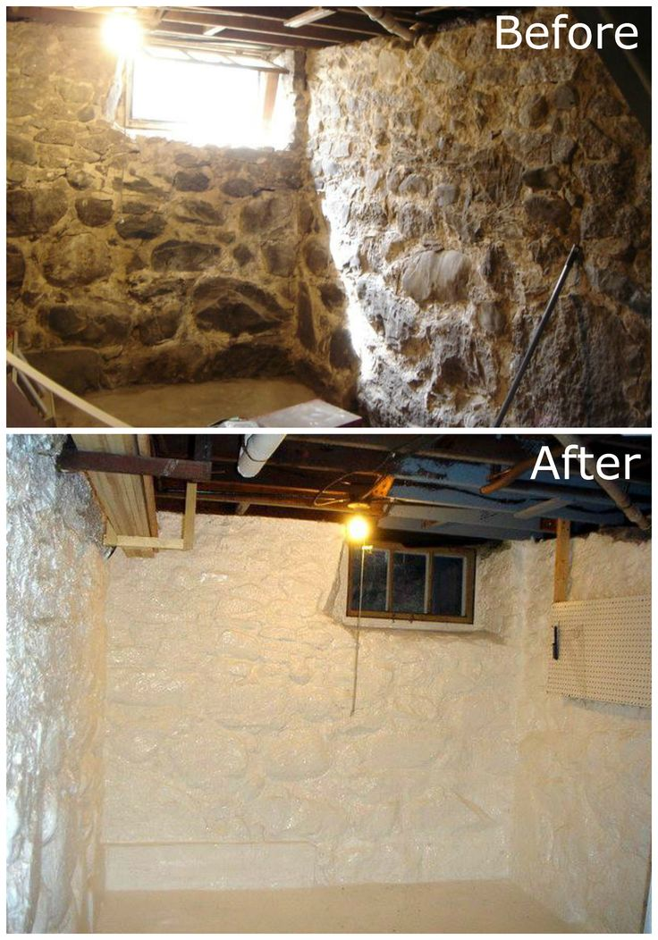 Stone basement waterproofing d i y projects pinterest for Insulating basement floor before pouring