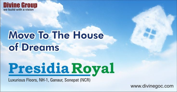 #PresidiaRoyal in #DivineCity at NH-1, #Ganaur Near #Sonepat is the best space to buy the dream home with lucrative payment plans. A huge rush is craving to book these homes.