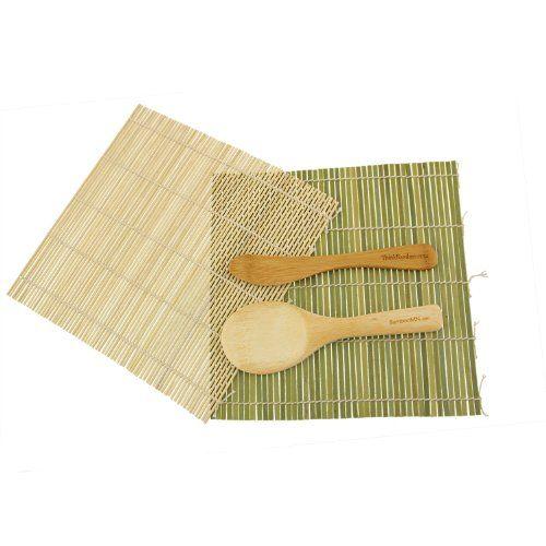 Amazon.com: BambooMN Brand - Sushi Rolling Kit - 2x rolling mats, 1x rice paddle, 1x spreader for homemade, DIY sushi #AmazonPrime