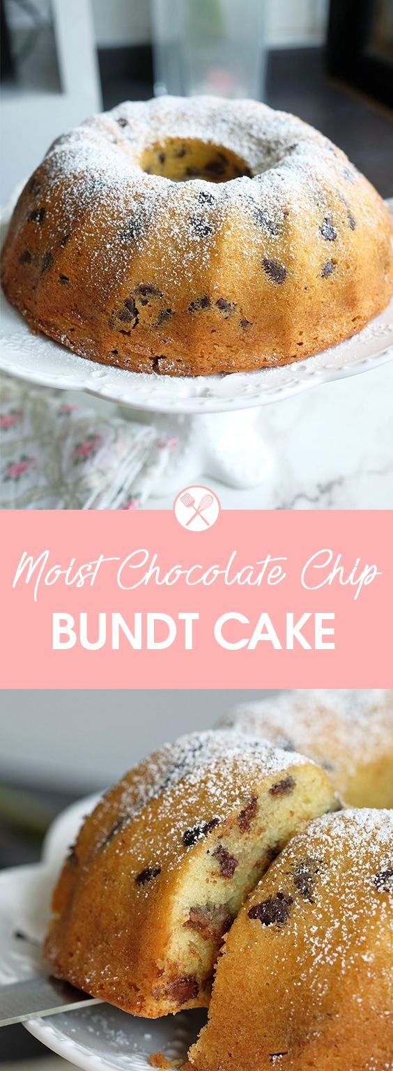 """A recent episode from Food Network Asia """"Fact or Fiction"""" totally inspired me break out my bundt pan and make this Moist and Chocolate Chip Bundt Cake..."""