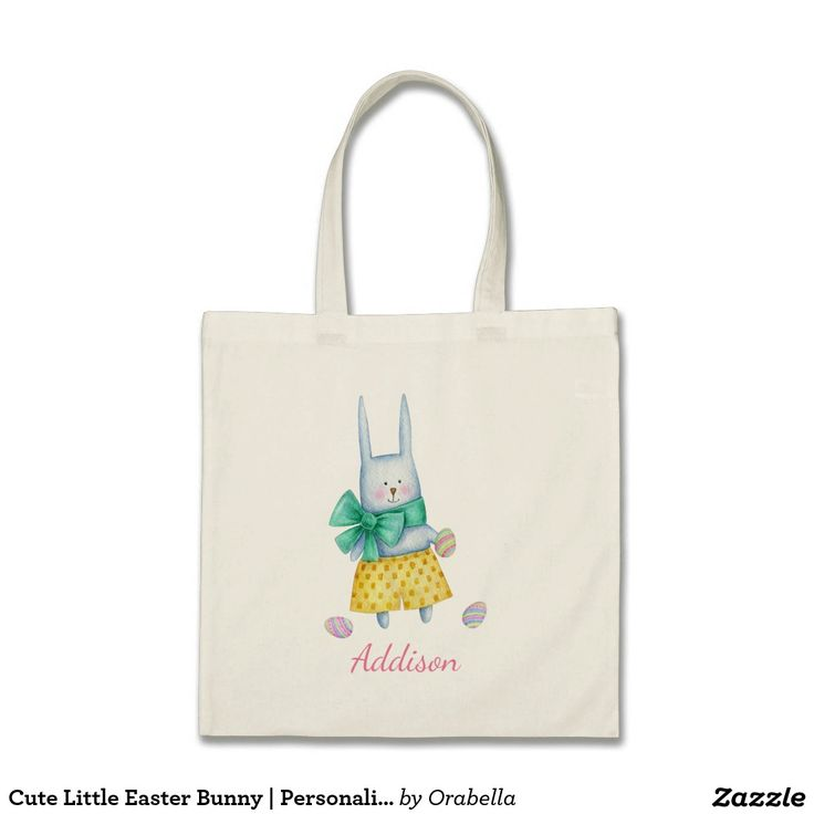Cute Little Easter Bunny | Personalized Tote