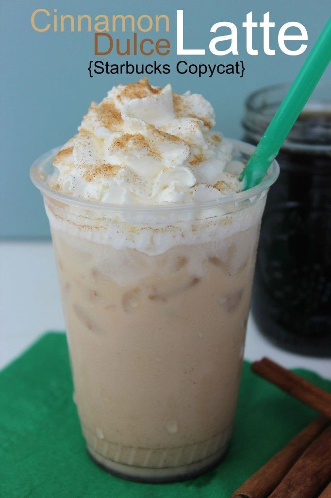 Starbucks Cinnamon Dolce Latte Recipe only a few ingredients