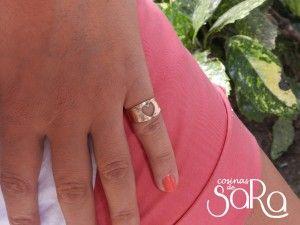 Anillo oro rosa para el dedo meñique