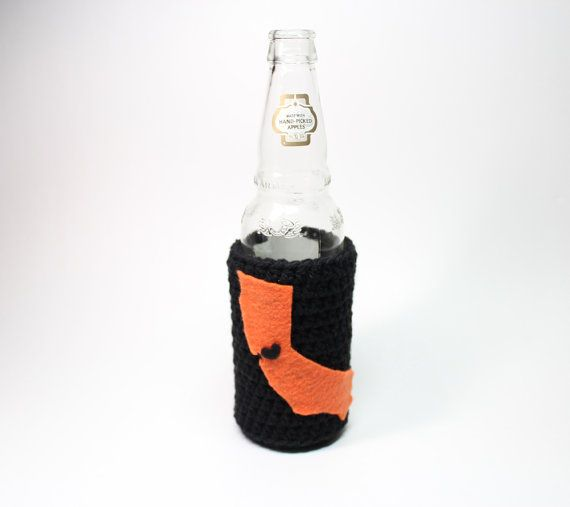 California Beer Bottle Koozie State Accessories by MsAmandaJayne, $17.00
