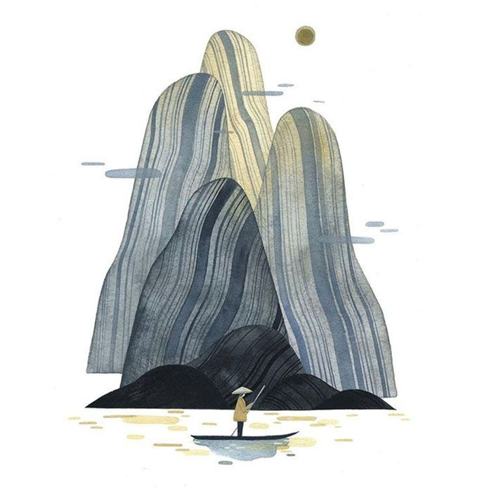 Maggie Chiang, Illustrations of dreamlike landscapes.