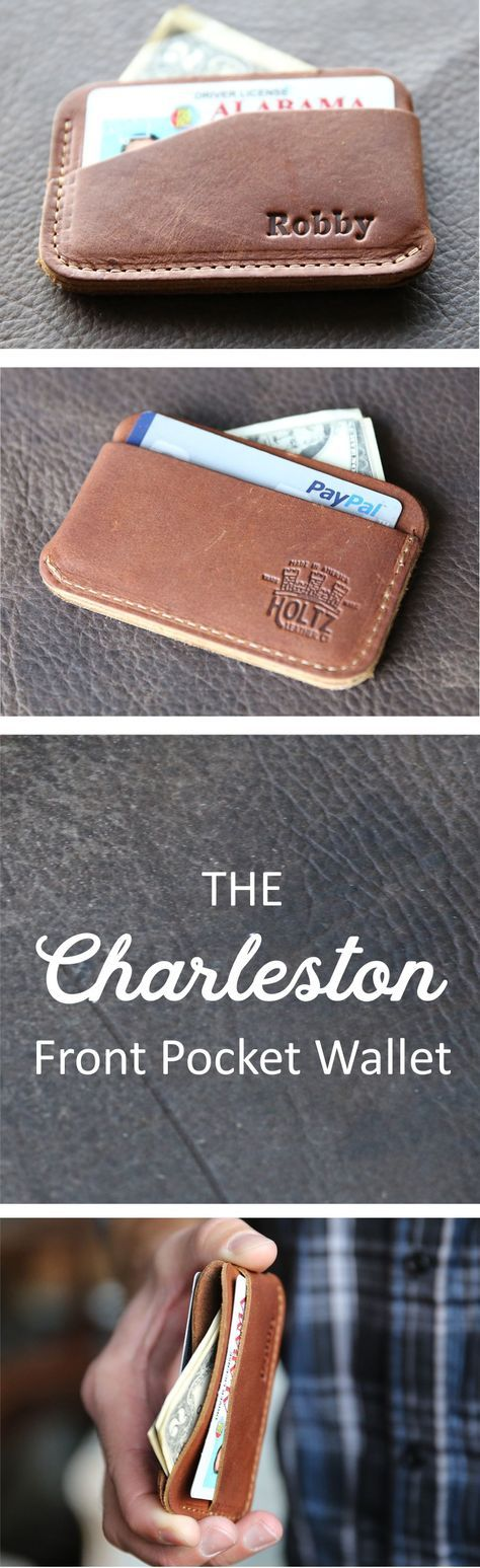 The Charleston triple sleeve front pocket wallet is a unique and timeless item! It is handmade right here in our shop with the finest of Full Grain American leathers. We hand–pick our leather hides from a local tannery for a rustic look and feel. This is a gift that will be used and loved for a lifetime! It's perfect for the executive, professional, father, or dear friend in your life.