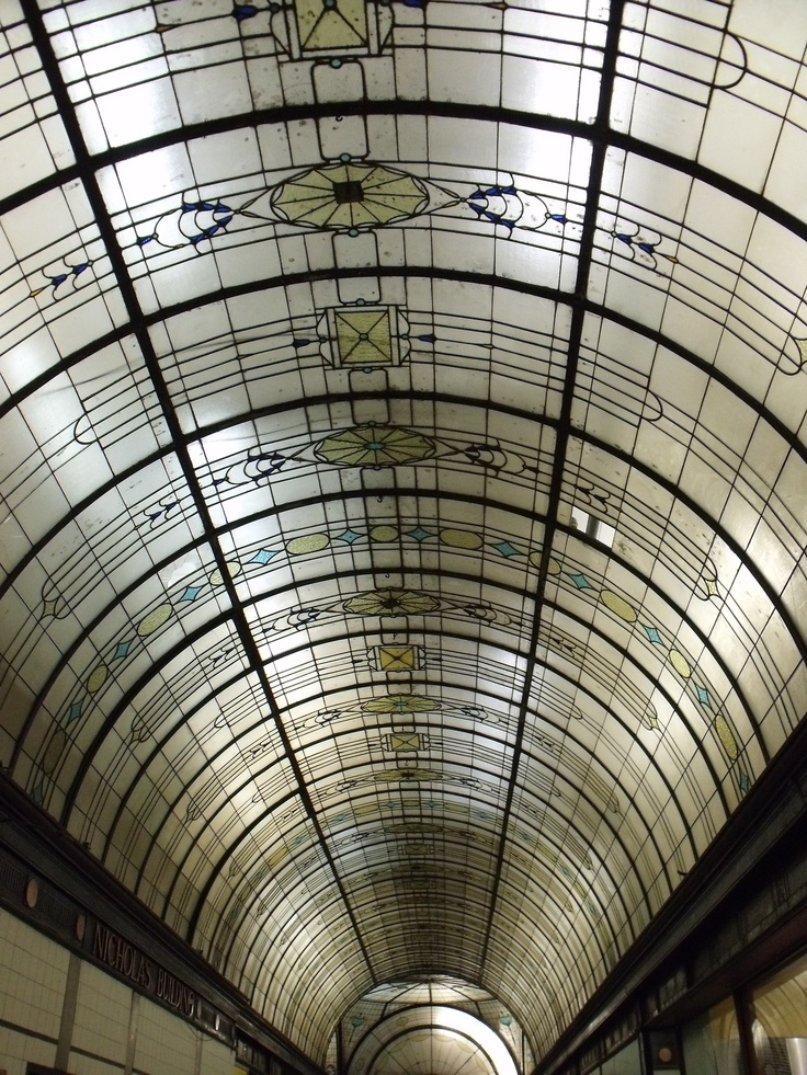 Art deco ceilings in the Melbourne arcade