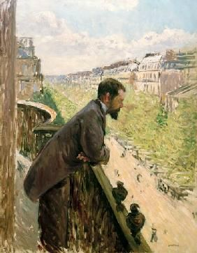 Gustave Caillebotte - Homme au balcon