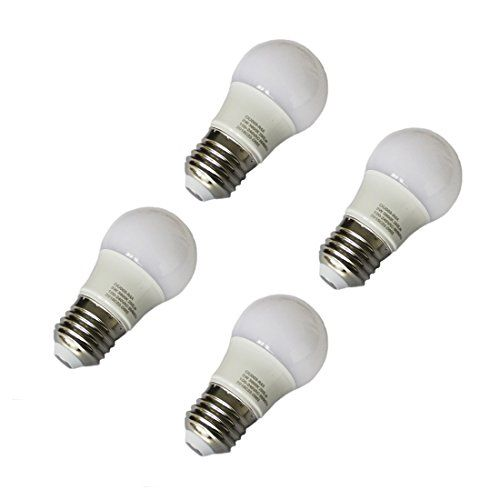 Pack 4Pcs LED Bulbs E27 Light Bulbs Cool white 60006500K A45 Globe Blub 3W Equivalent to Traditional 20W Bulb