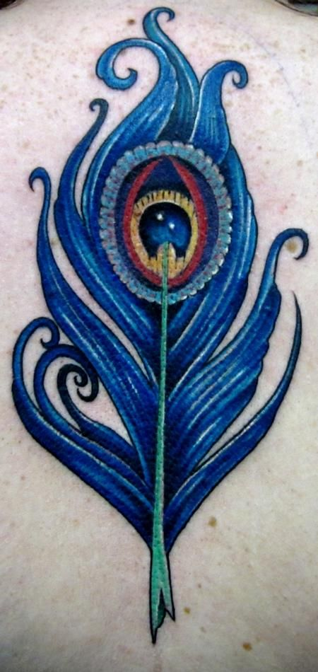 Trent Edwards : peacock feather ~ perfect! I love the coloring and that the eye looks kind of like the stars/sky/a planet ^.^b