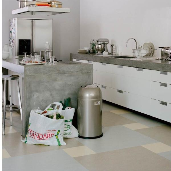 Kitchen, Buy Floors and Walls online, Marmoleum Click 763860 Silver Shadow Tile from Mustard Monkey UK.