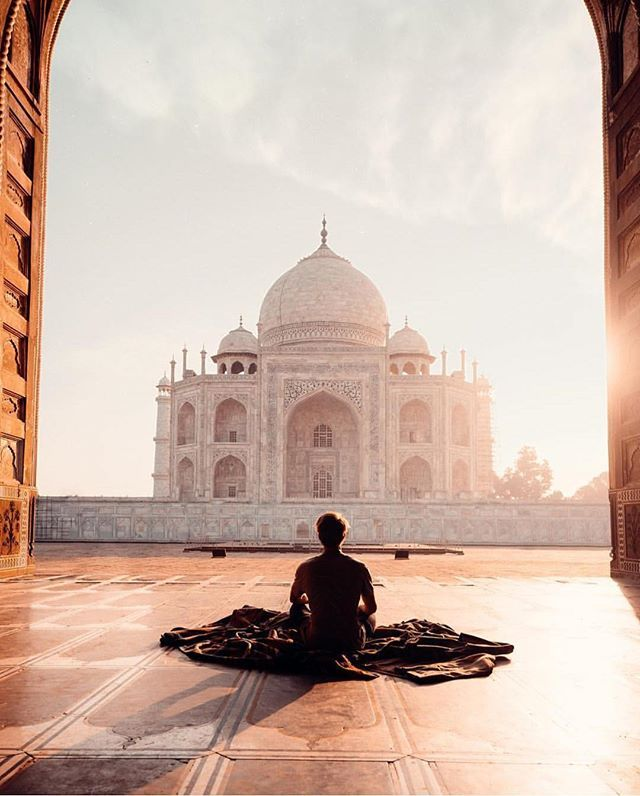 Seven wonders of the world! Taj Mahal, India | : @sam_kolder Tag your best travel photos with #thebestlocations www.travel4life.club