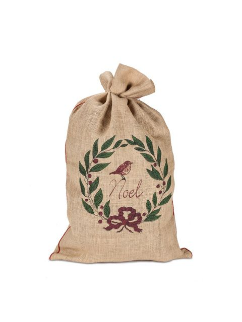 """American Chateau - Abbott Collection Large """"Noel"""" Gift Sack, 19 x 31"""" ZZ17190, C$49.59 (http://www.americanchateau.com/Abbott-Collection-Large-Noel-Gift-Sack-19-x-31-ZZ17190/)"""