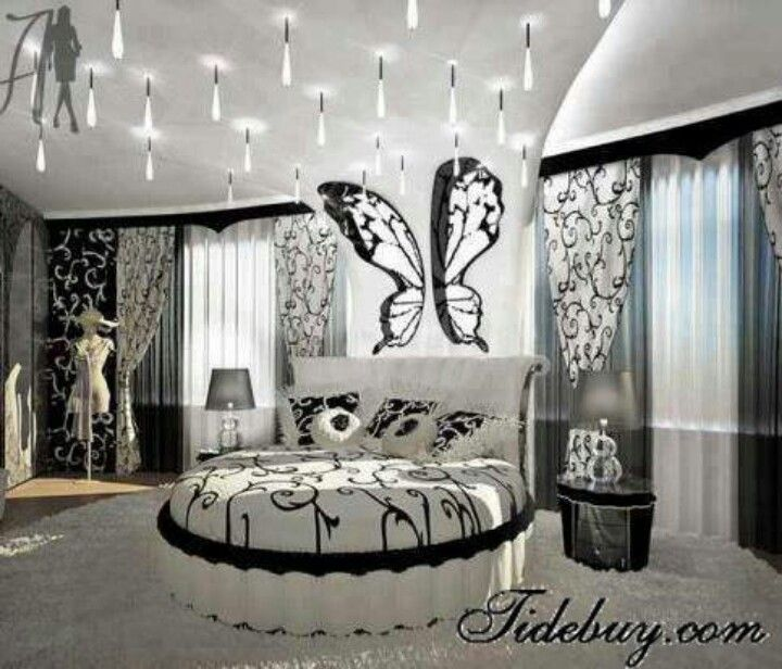 dream bedroom furniture. black and white master bedroom design with round bed dream furniture