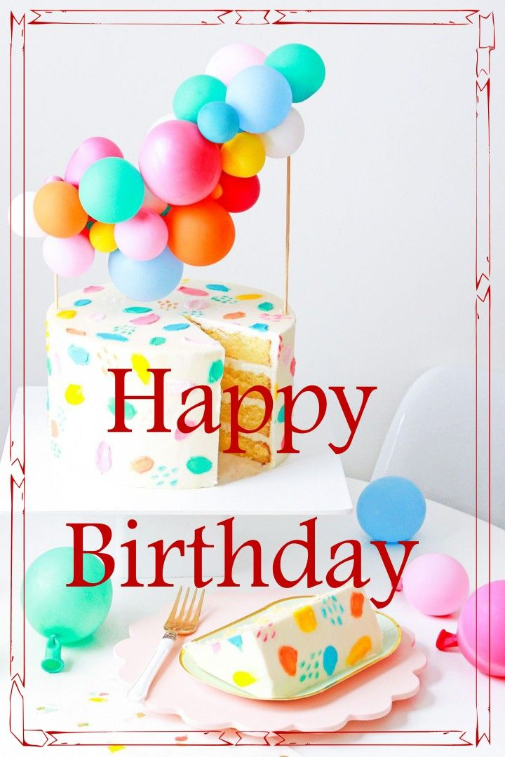 Stupendous Happy Birthday Cake Balloons With Images Happy Birthday Cakes Funny Birthday Cards Online Alyptdamsfinfo