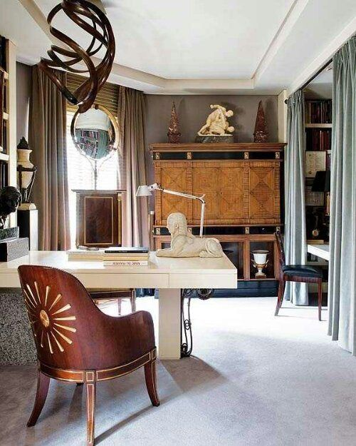 Home Office Library Design Ideas: 173 Best Images About Home Office/Work Spaces/Inspiration