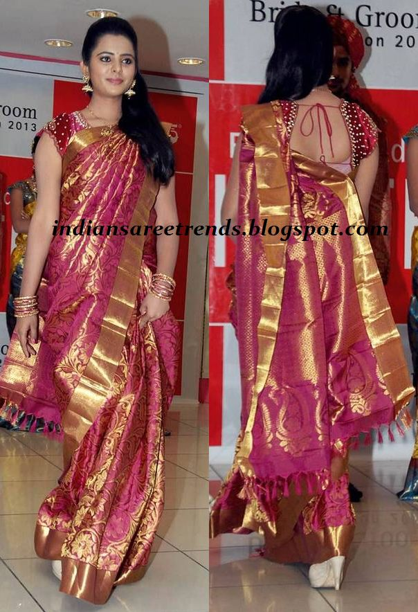 Latest Traditional and Designer Sarees: Kalanikethan Bridal kanjeevaram silk saree