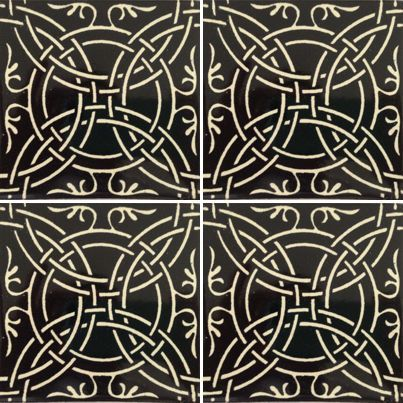 Best Tiles Images On Pinterest Bathroom Bathrooms And Flooring - Black and white talavera tile