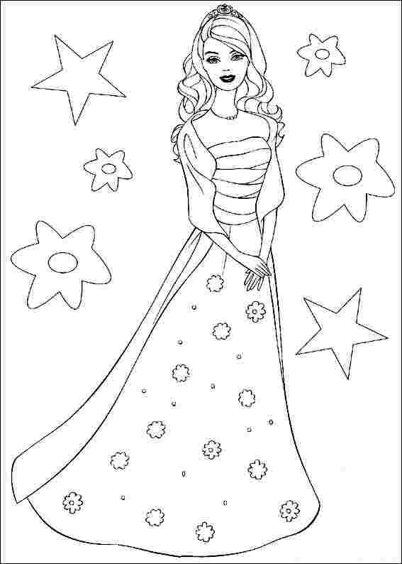 Barbie Doll Coloring Pages Pdf Display