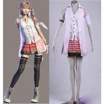 Final Fantasy XIII Serah Farron Cosplay Deluxe Costume