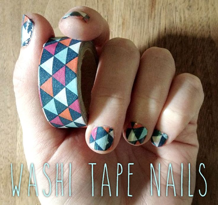 Astounding Diy Nail Art Designs Using Scotch Tape: Tape Nails, Washi Tape And Washi On Pinterest