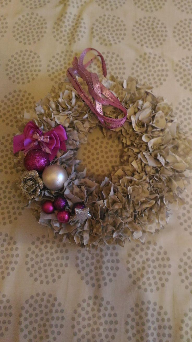 vánoční věneček fialový