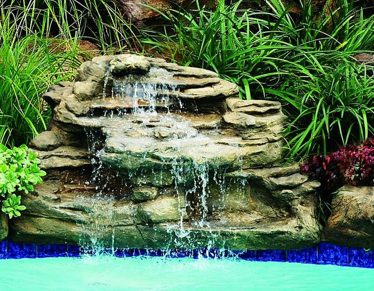 11 Best Images About Swimming Pool Water Falls On Pinterest Pool Waterfall Pond Waterfall And