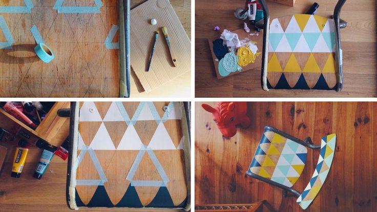 chaise écolier customisation motifs graphiques