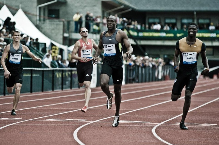 Lashawn Merritt, Jeremy Wariner, and Kirani James in the 400 at the Pre Classic!!!