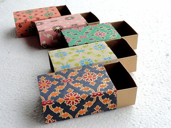 wedding favor box, Match box, Packaging box, Gift box -10 assorted Lattice print and Gold match box  , Jewelry Packaging Boxes