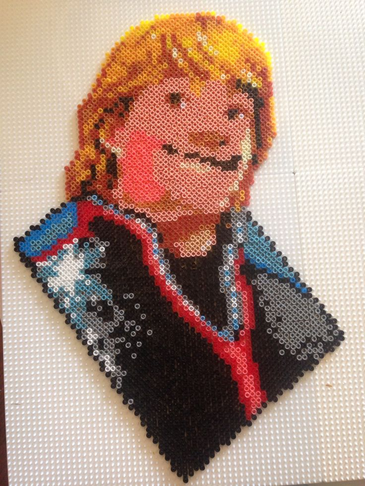 Kristoff - Frozen hama perler beads by Louise Vienberg - Pattern: https://www.pinterest.com/pin/374291419003198510/