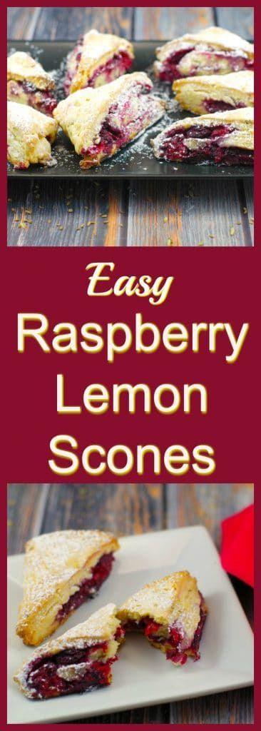Easy Raspberry Lemon Scones